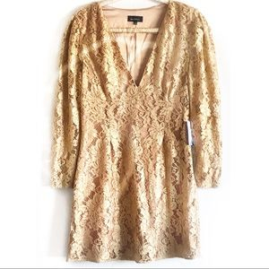 NWT Majorelle Bettina Mini Dress Golden Luxe Sz L